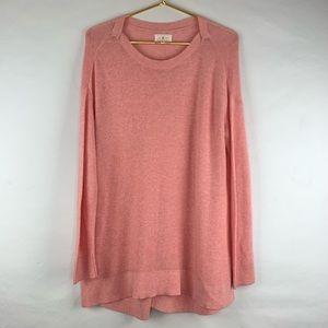 Lou & Grey pink open knit sweater, Medium
